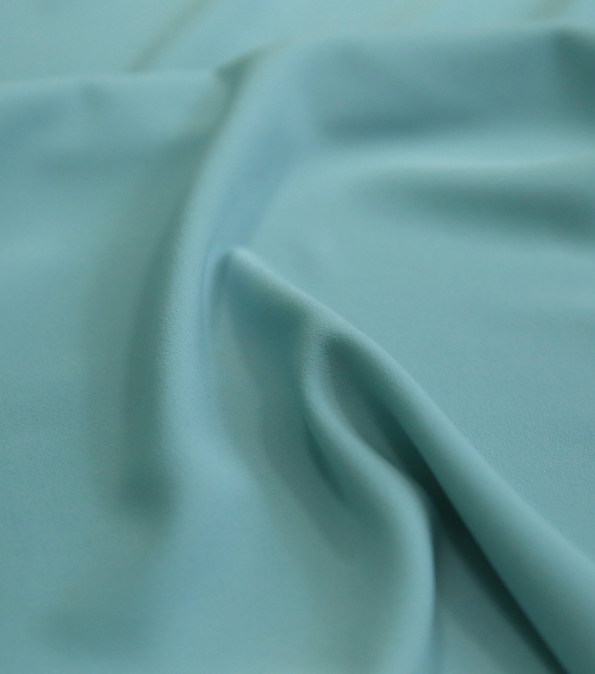 Silky Solid Stretch Crepe Fabric 58\u0022-Light Blue