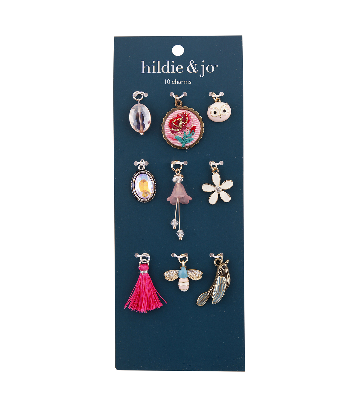 hildie & jo Zinc Alloy & Iron Nature Charm Pack-Pink