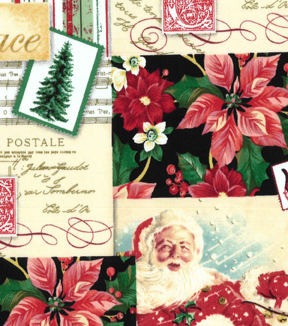 Christmas Cotton Fabric 43\u0022-Christmas Traditions Patch
