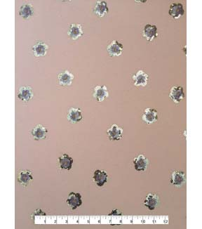 Doodles Juvenile Apparel Fabric -Sequin Flower on Pink