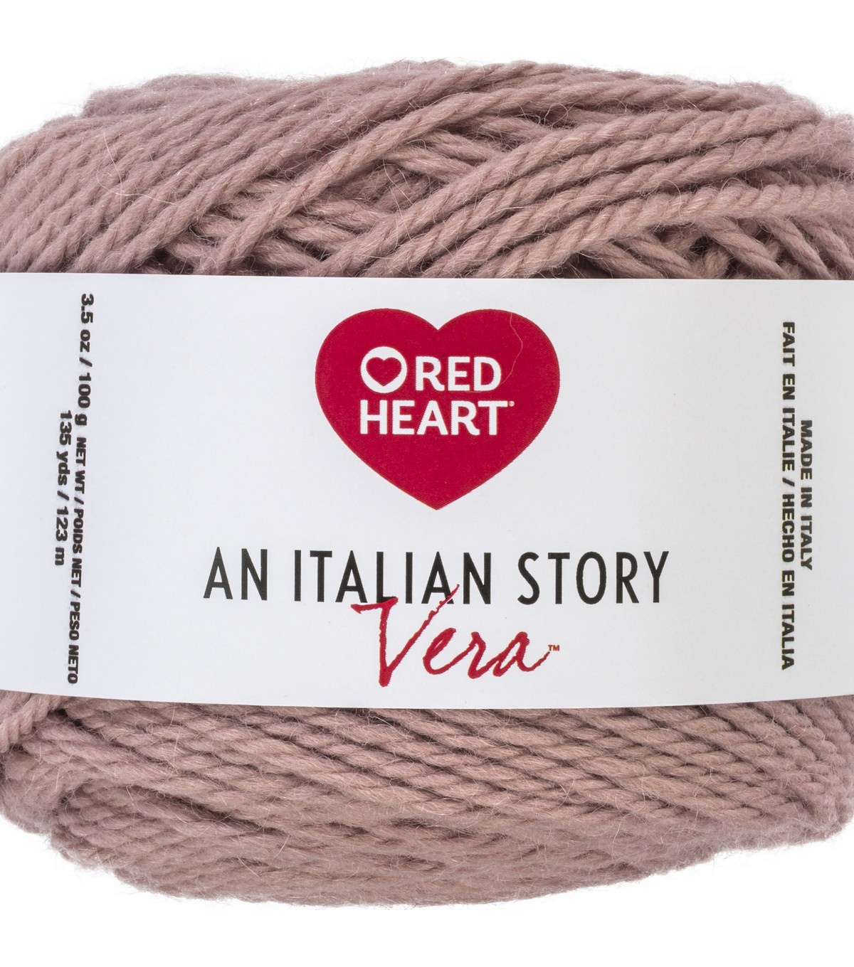 Red Heart An Italian Story Vera Yarn, Rosa
