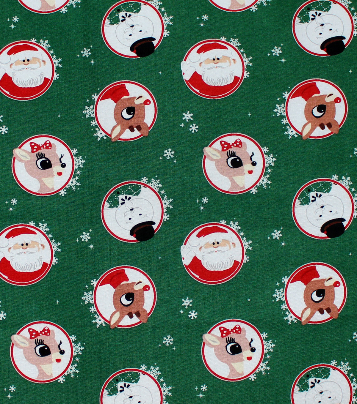 rudolph the red nosed reindeer cotton fabric 44u0022 badge toss