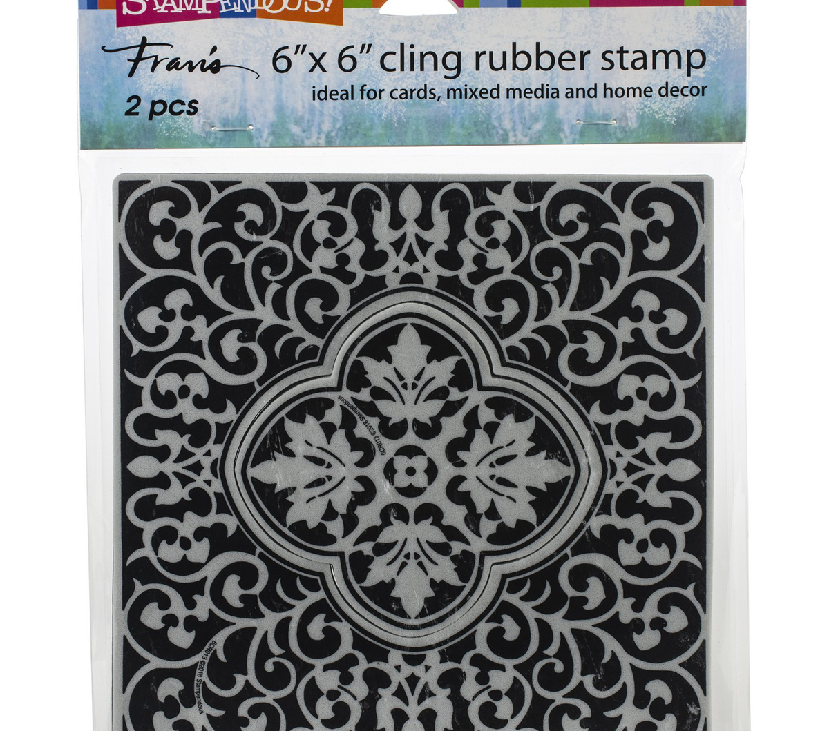 Stampendous Cling Stamps-Taj Tile