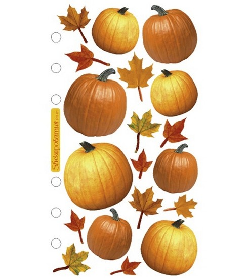 Sticko Stickers-Halloween, Autumn Pumpkins