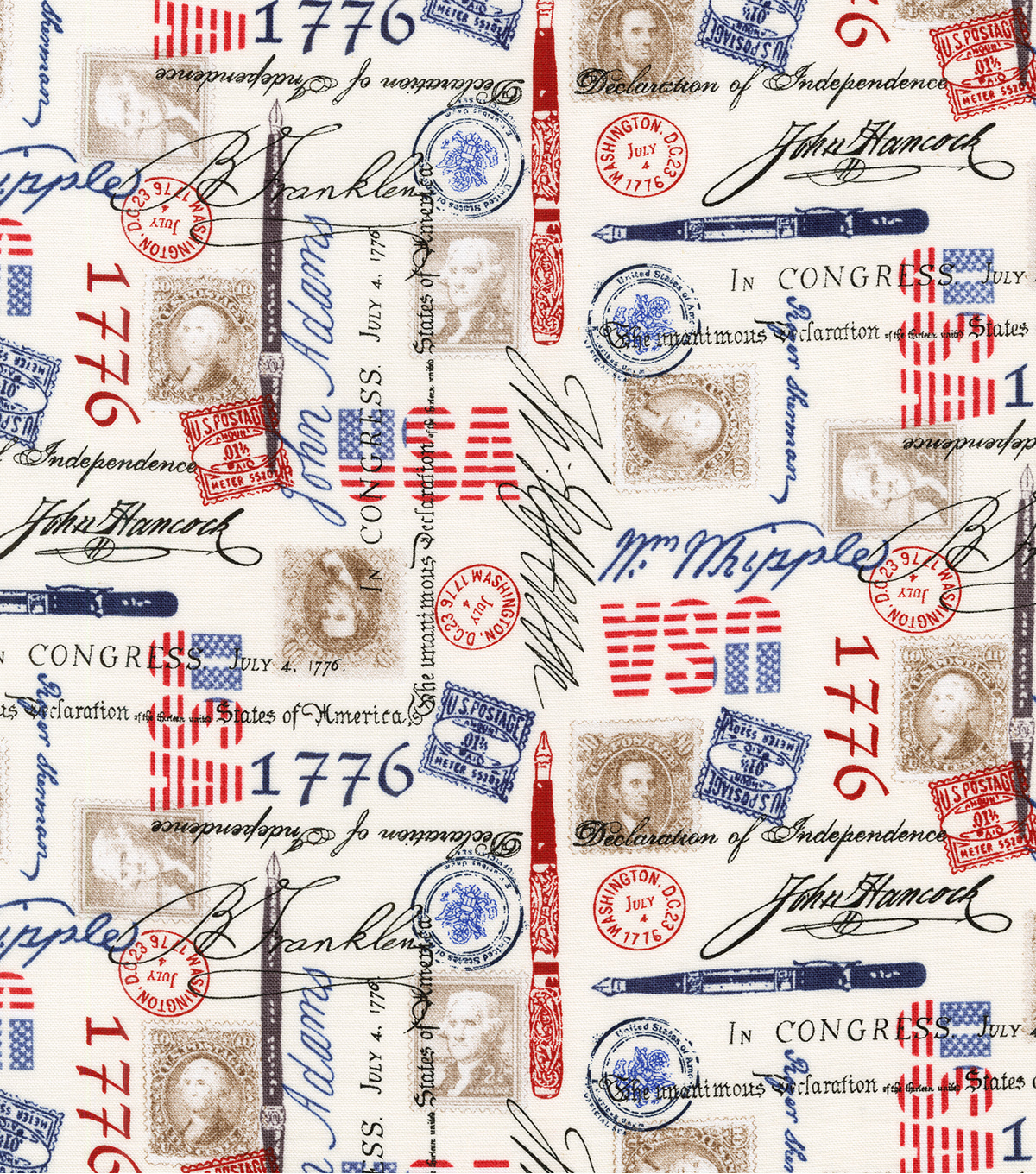 Patriotic Cotton Fabric-The Declaration