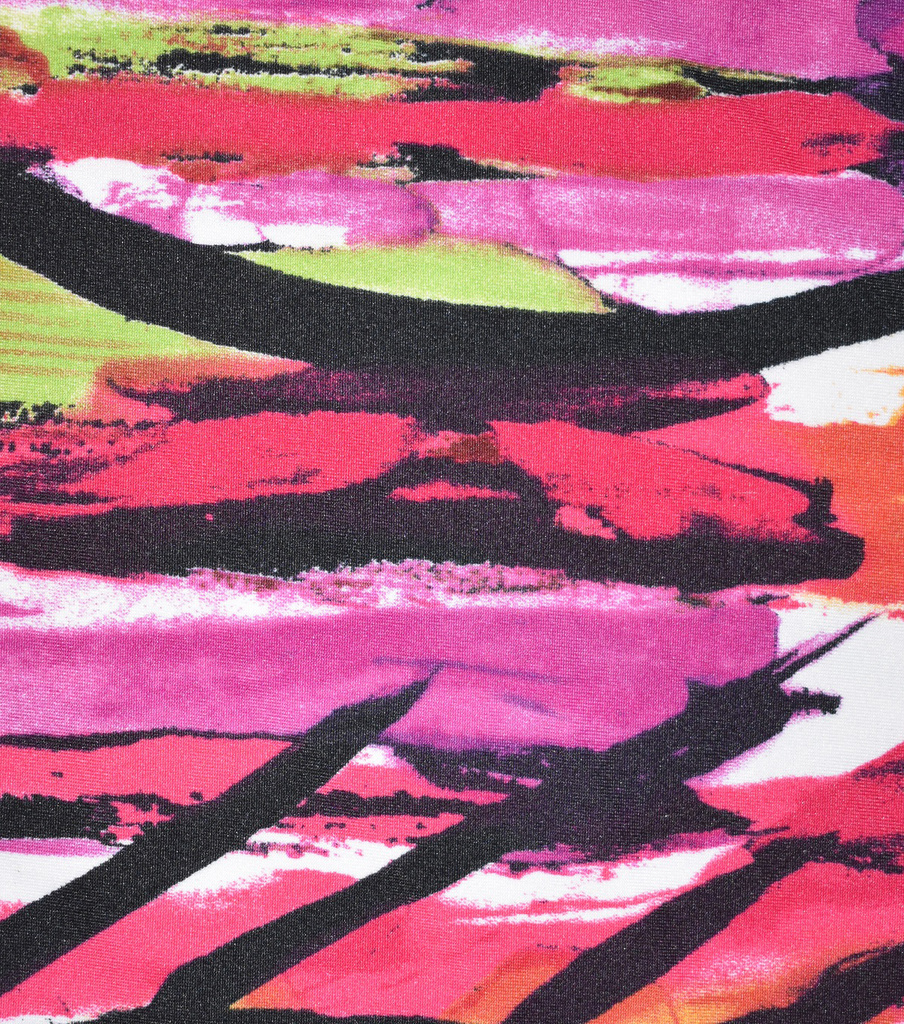Fast Fashion Knit Fabric-Azalea Abstract Flow