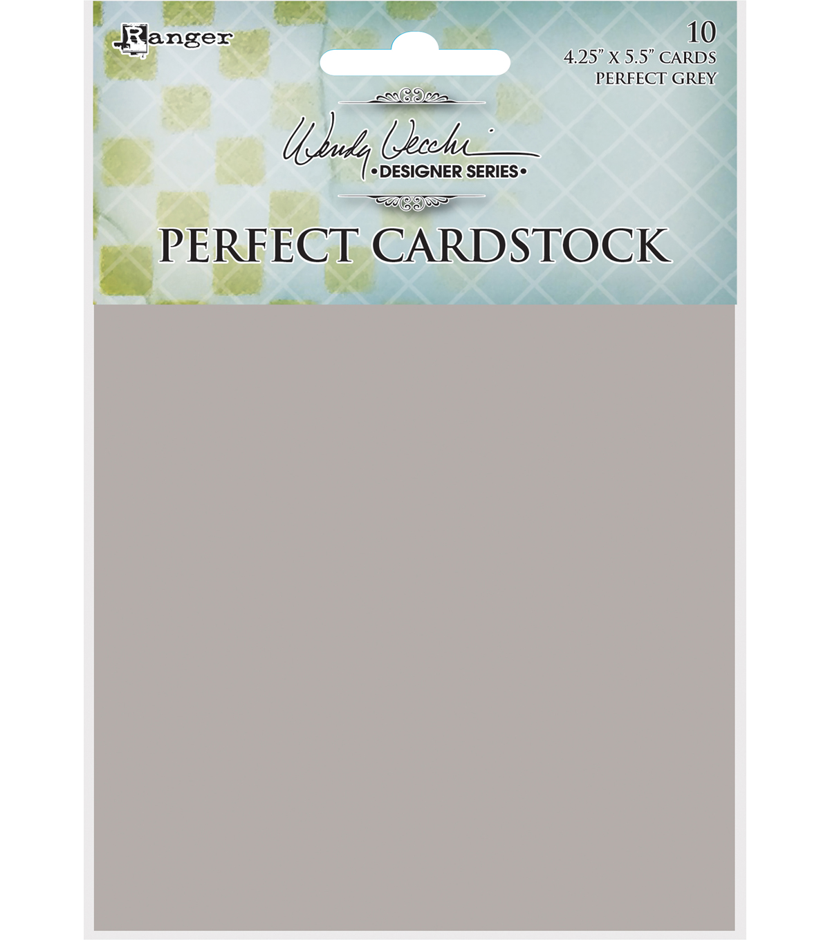 Wendy Vecchi Perfect Cardstock 4.25\u0022X5.5\u0022 10/Pkg-Grey Cards