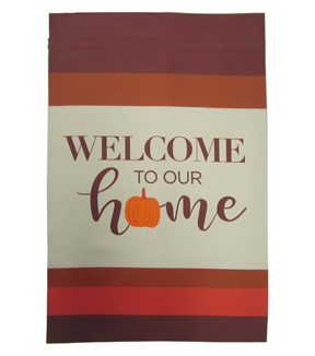 Simply Autumn 12\u0027\u0027x18\u0027\u0027 Flag-Welcome to Our Home Pumpkin