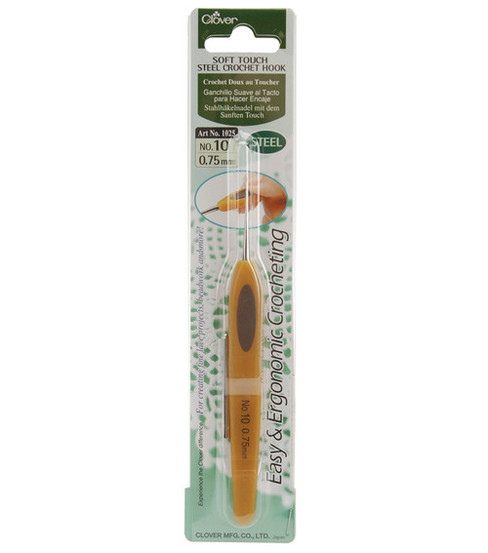 Clover-Soft Touch Steel Crochet Hook-Size 10 .75mm