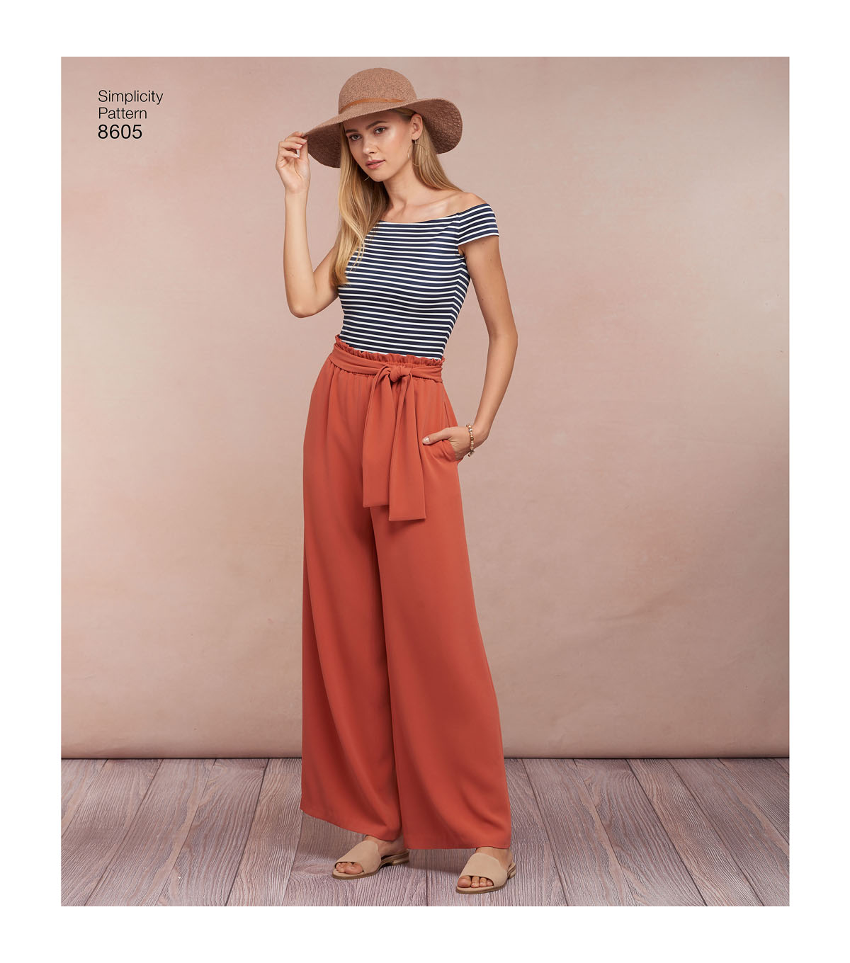 Simplicity Pattern 8605 Misses\u0027 Pull-on Skirt & Pants-Size A (XS-XL)