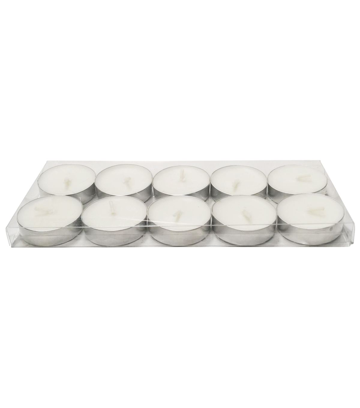 Hudson 43 Candle & Light Collection 10 Pack Poured Tealights Unscented White