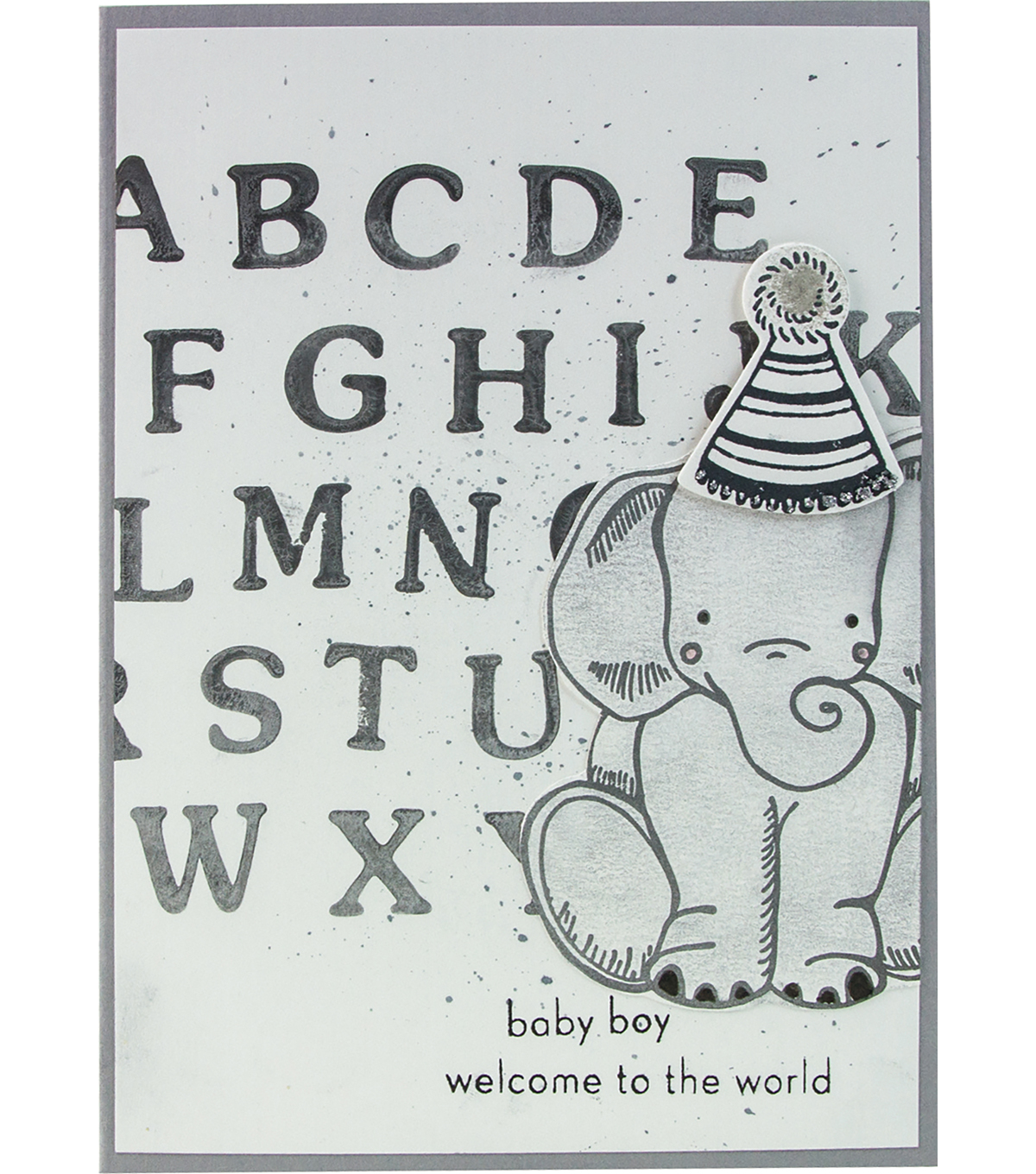 Tonic Studios Essentials 36 pk Clear Stamps-Block Capitals