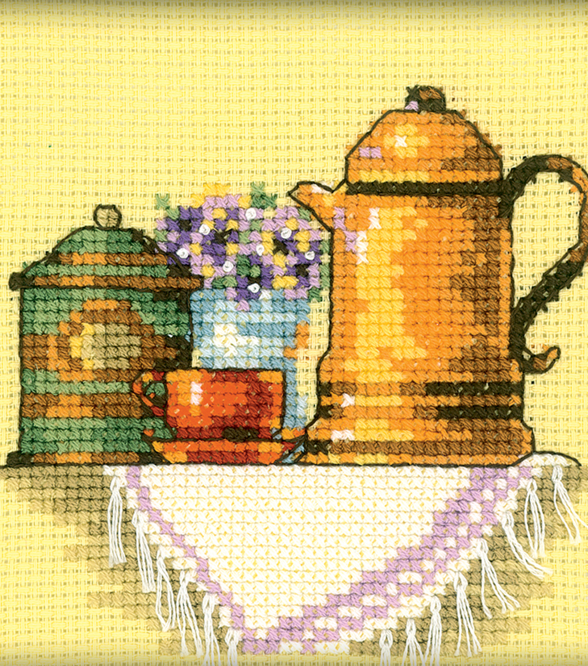 RTO 4\u0027\u0027x4\u0027\u0027 Counted Cross Stitch Kit-A Cup of Coffee in the Morning