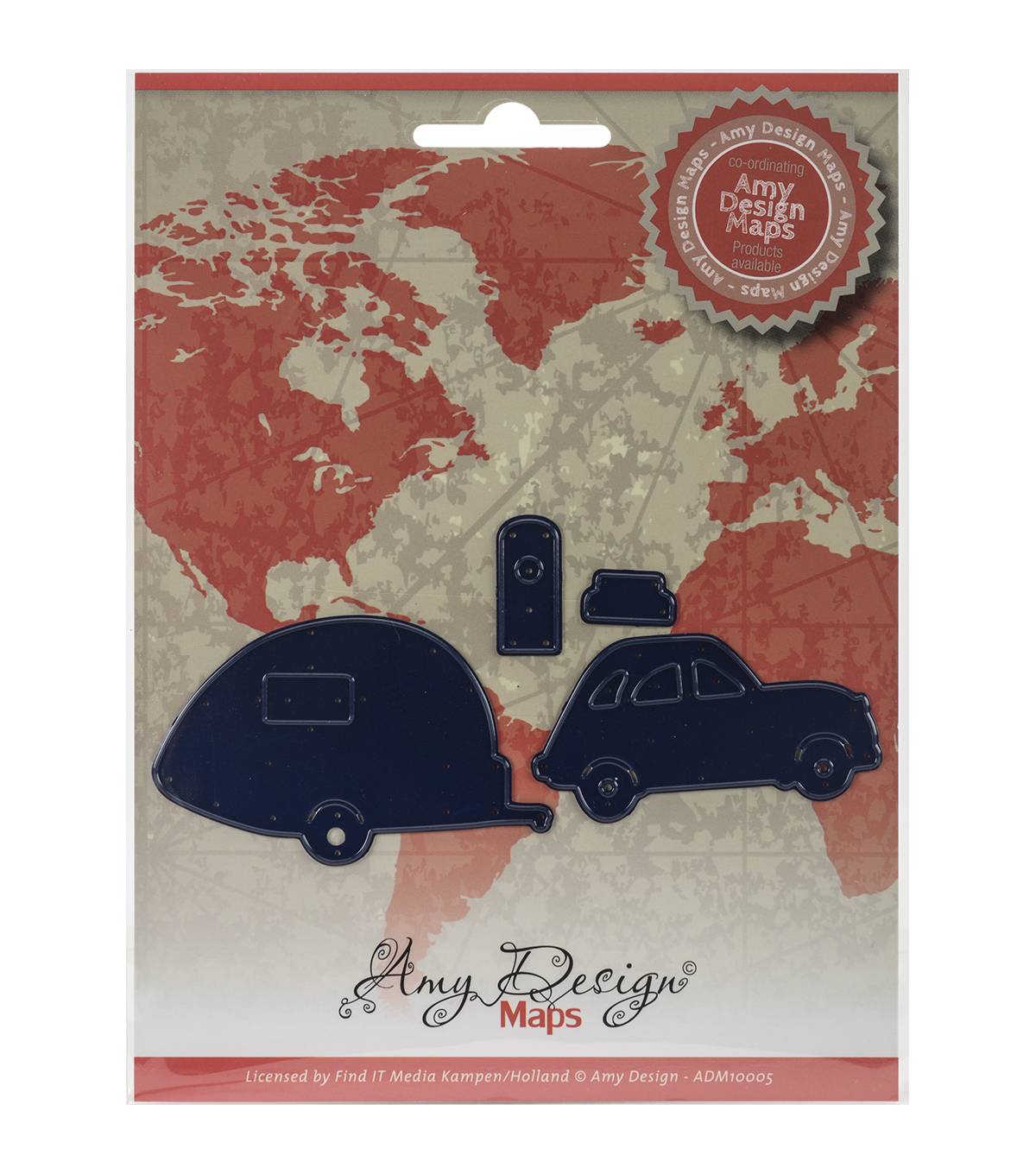 Amy Design Find It Trading Map Die-Car With Camper