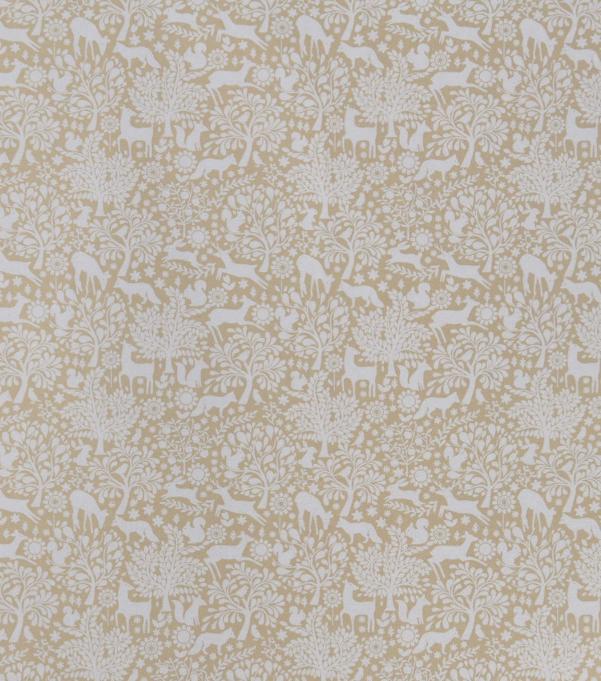 Snuggle Flannel Fabric-Neutral Packed Floral Animals