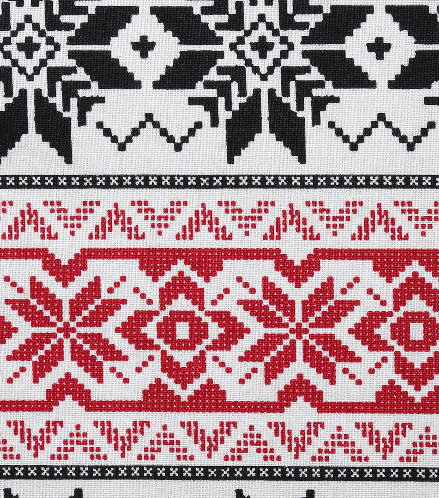 242163671fe57a Christmas cotton fabric black red fair isle sweater joann jpg 1524x1727 Fair  isle prints