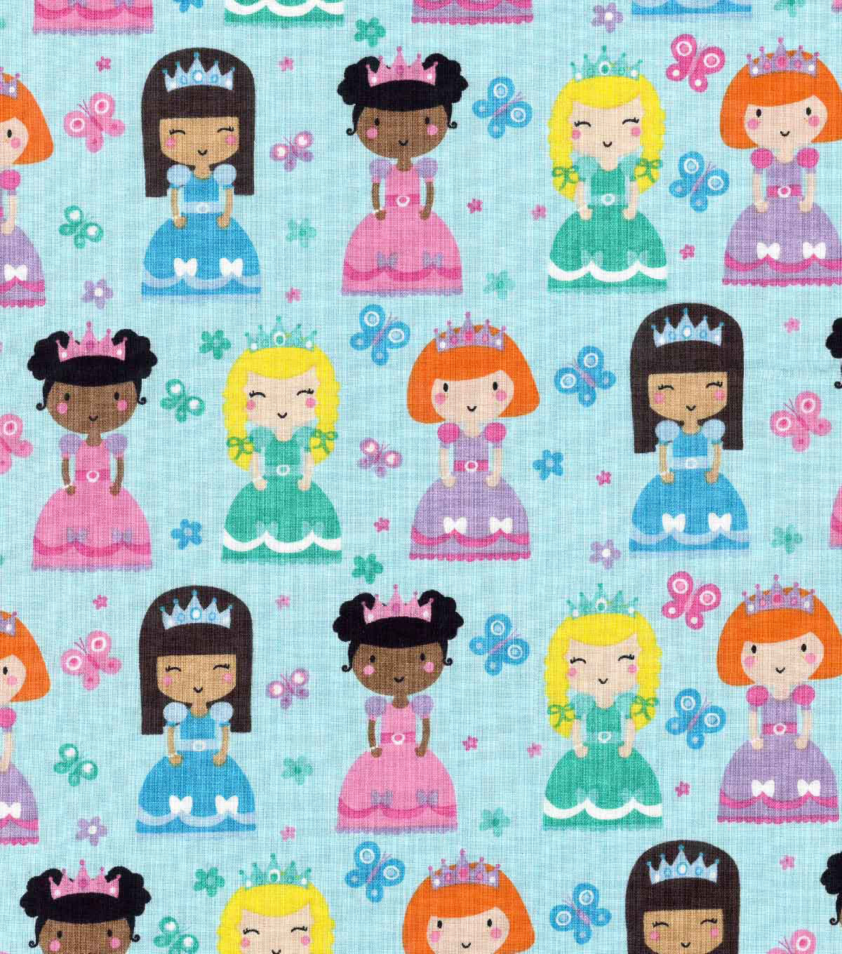 Novelty Cotton Fabric- Princesses