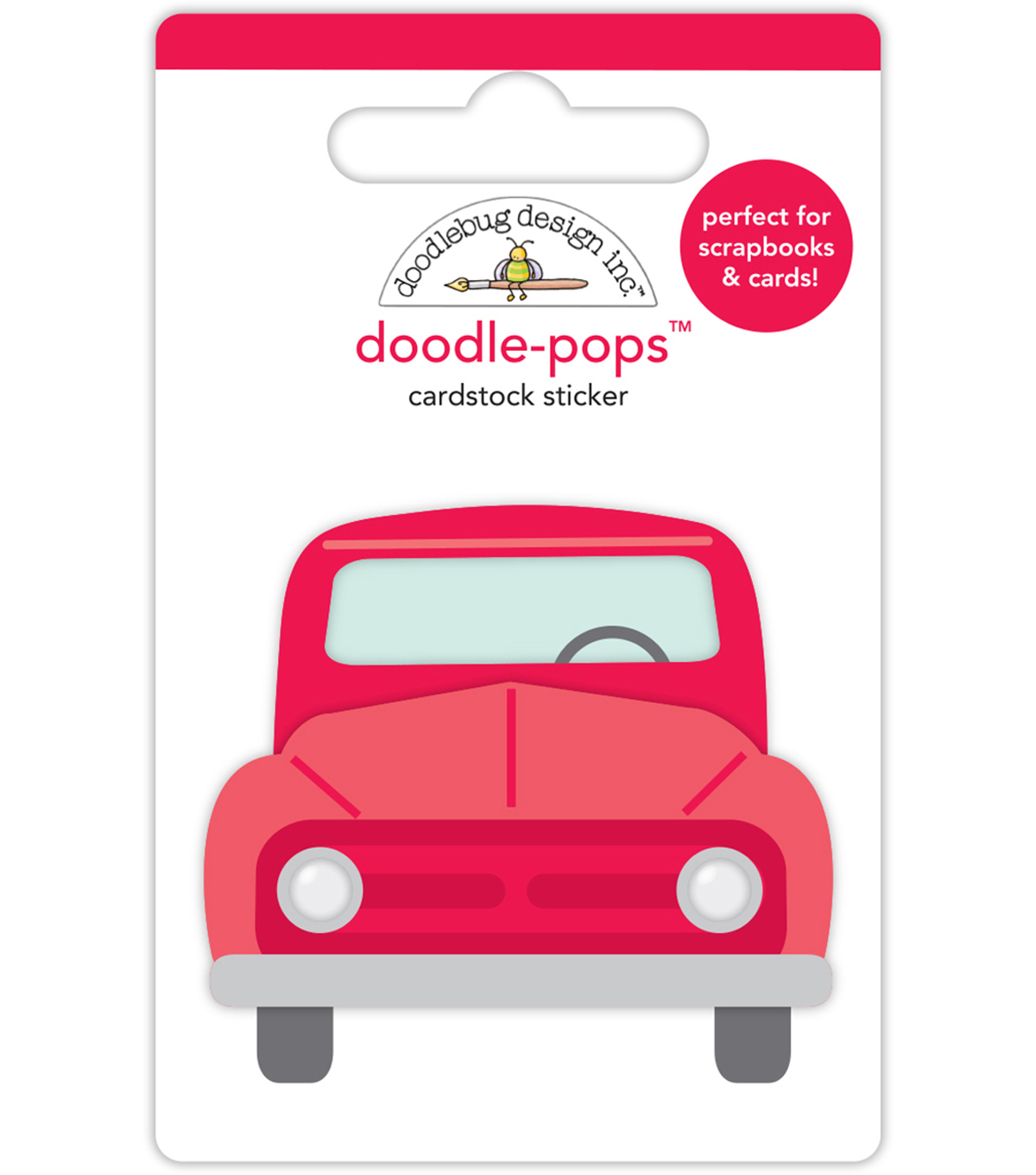 Doodlebug Doodle-Pops 3D Stickers-Old Red