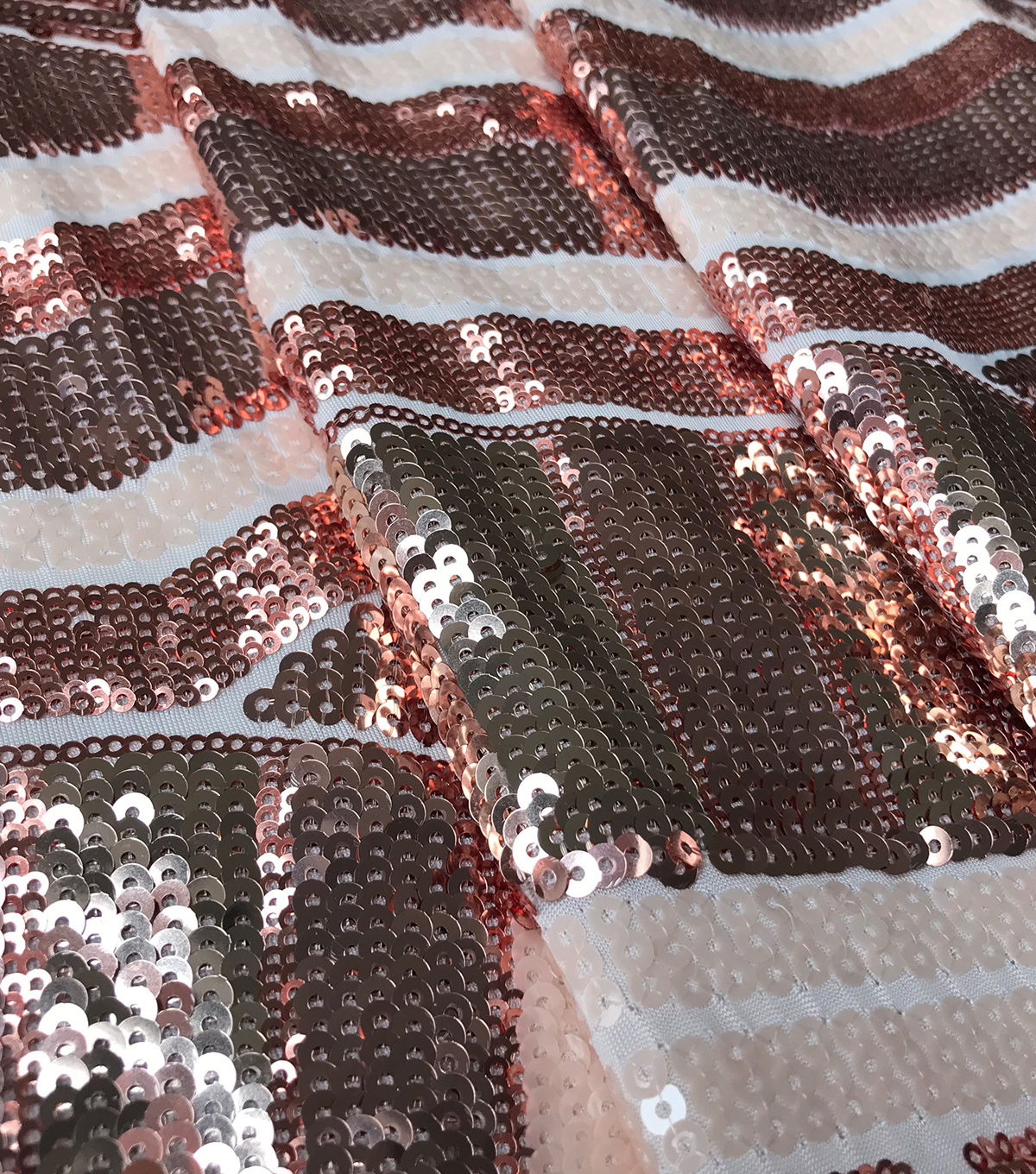 Casa Dahlia Geo Stacked Tonal Sequin Peach Blush