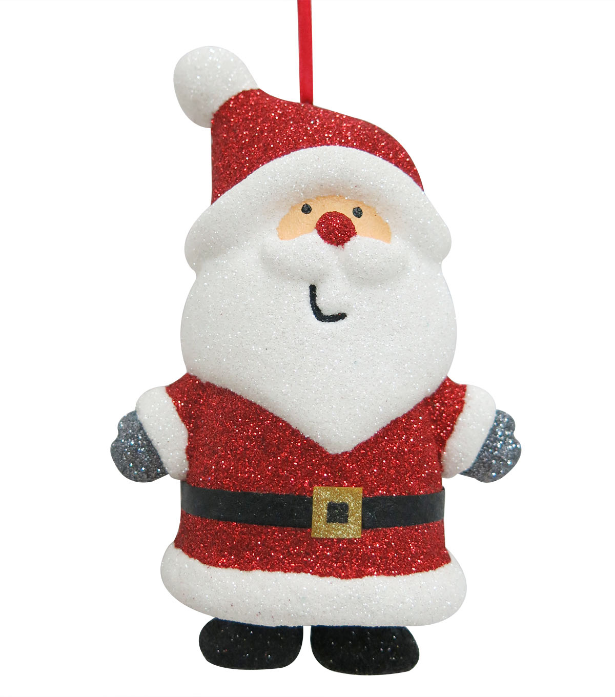 Maker\u0027s Holiday Christmas Whimsy Workshop Glitter Santa Ornament