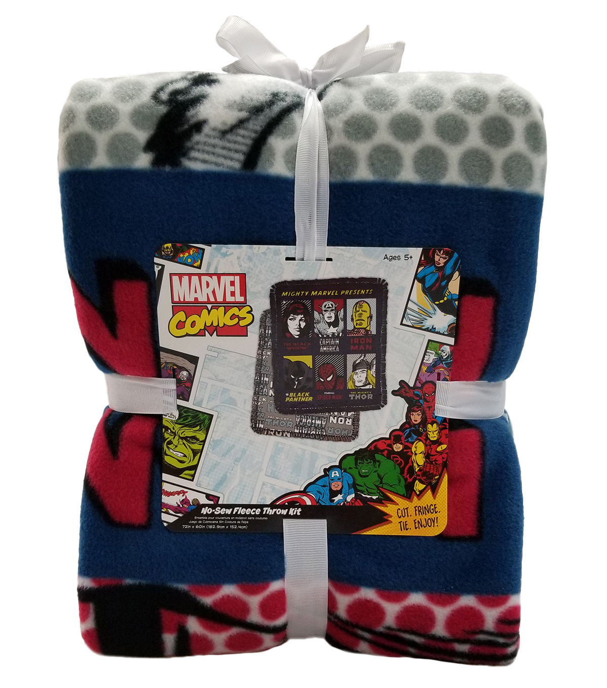 Marvel No Sew Fleece Throw 72\u0022-Retro Comics