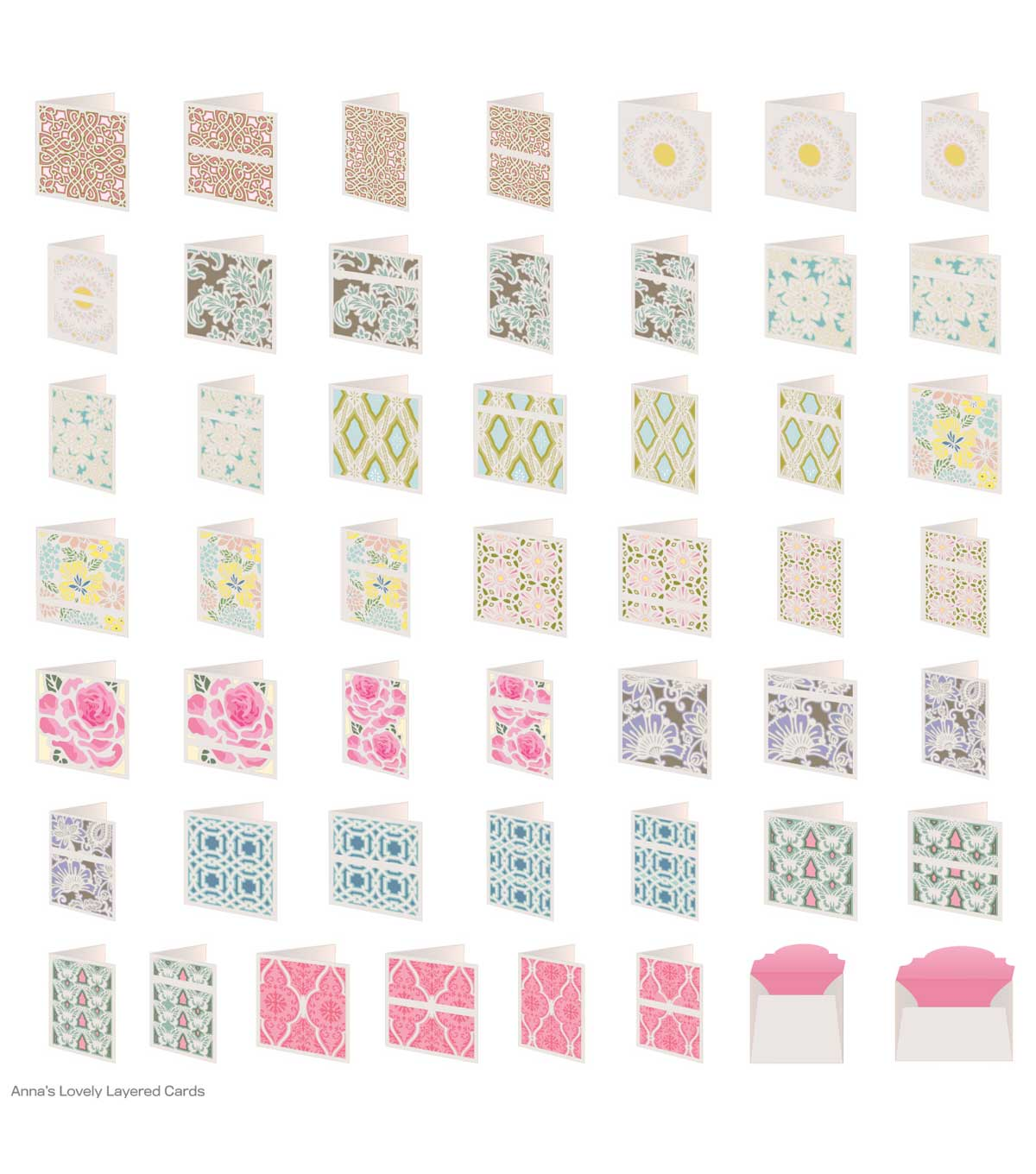 Cricut Cartridge Anna Griffin Lovely Layered Cards