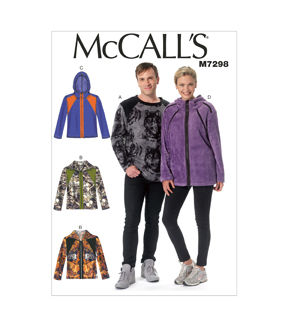 McCall\u0027s Pattern M7298 Adult Top & Jackets-Size S-M-L