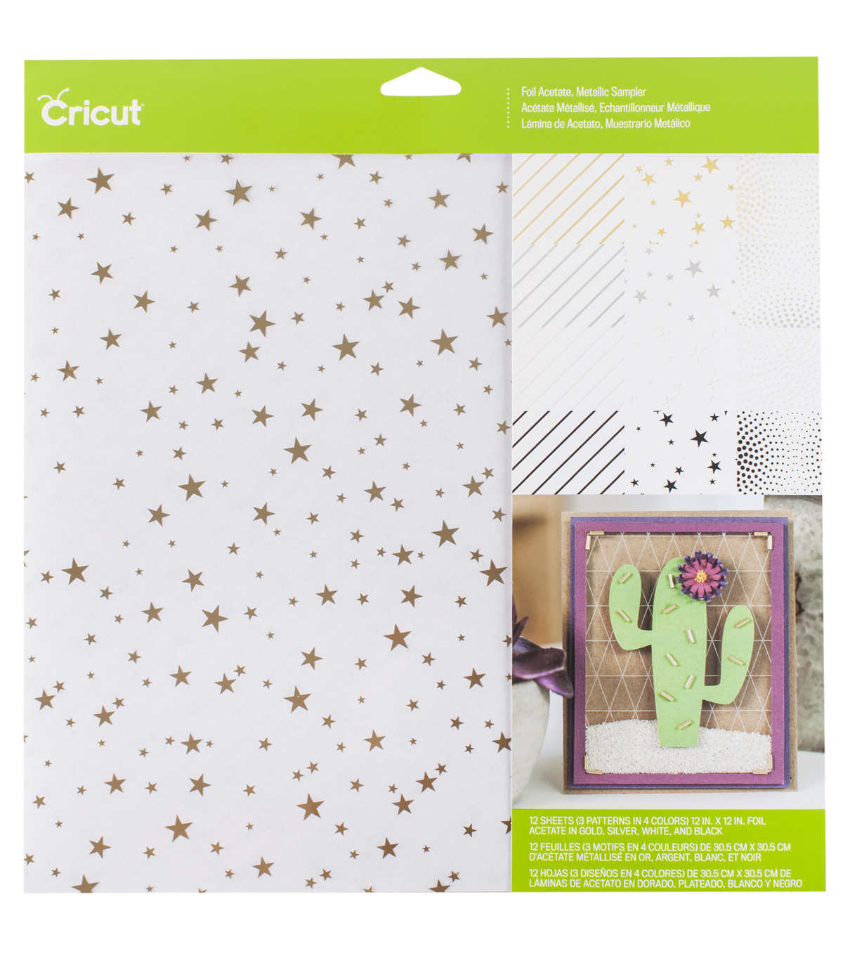 Cricut 12\u0027\u0027x12\u0027\u0027 Foil Acetate Sheets-Metallics