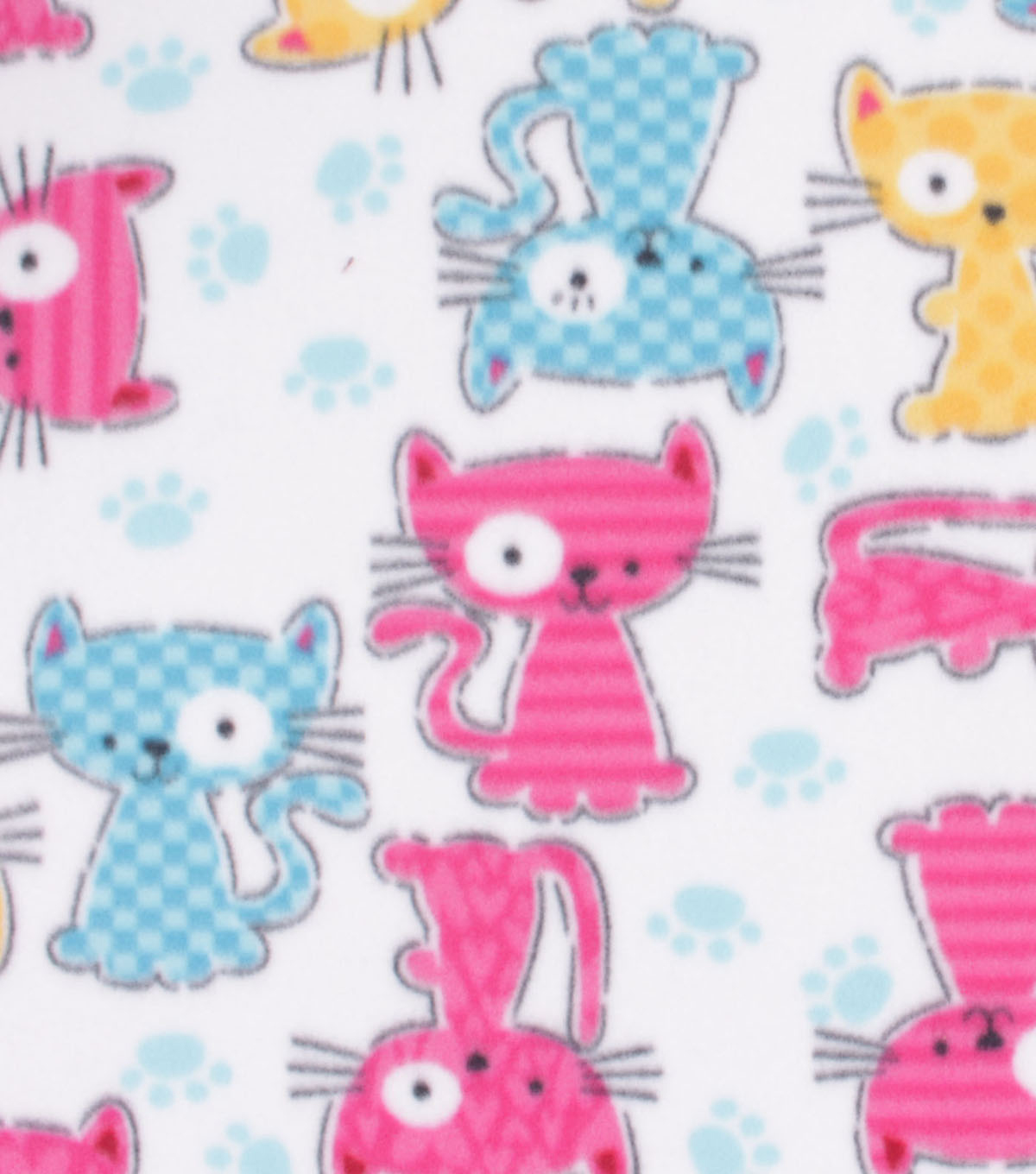 Blizzard Fleece Fabric-Patterened Cats