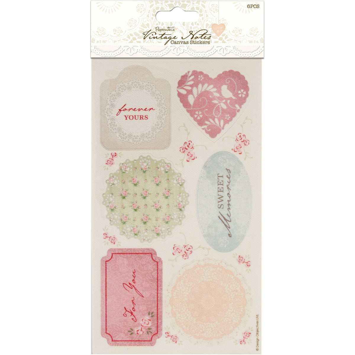 Docrafts Papermania Vintage Notes Canvas Stickers
