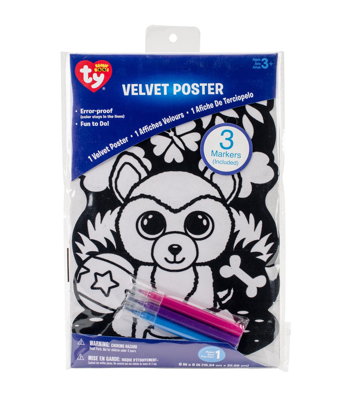 Beanie Boo Velvet Coloring Poster-Dog | JOANN