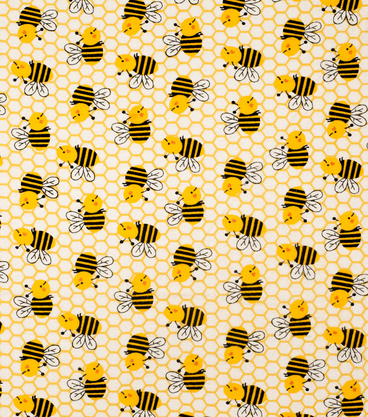 Super Snuggle Flannel Fabric-Honeycomb Bee