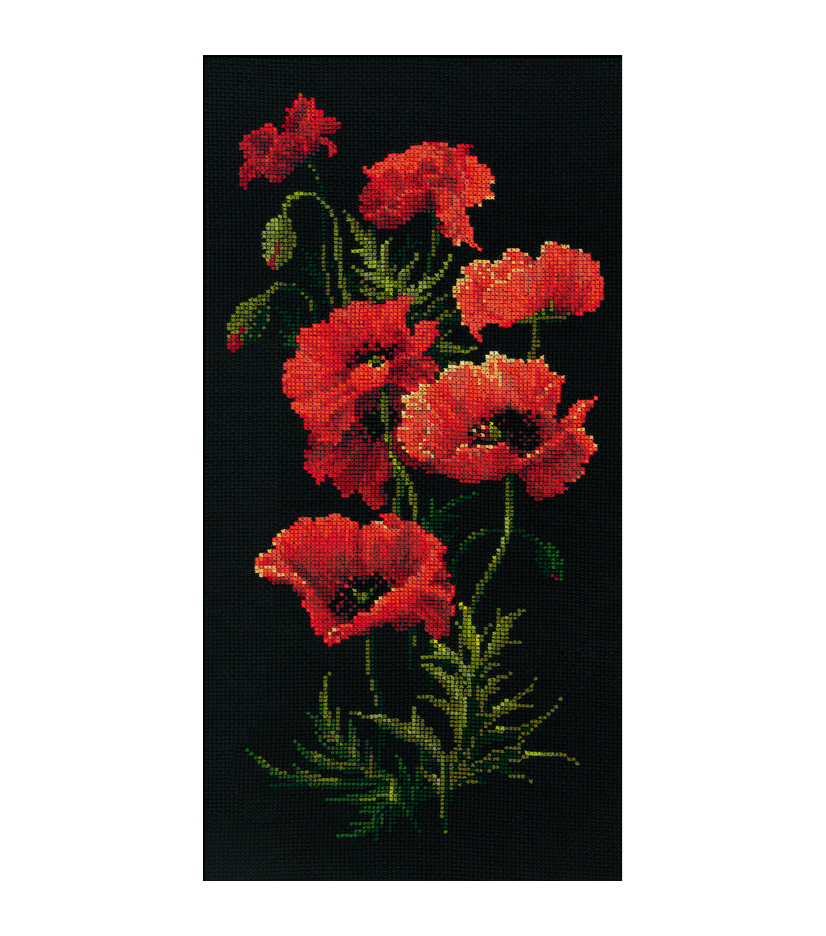 Riolis Poppies Counted Cross Stitch Kit