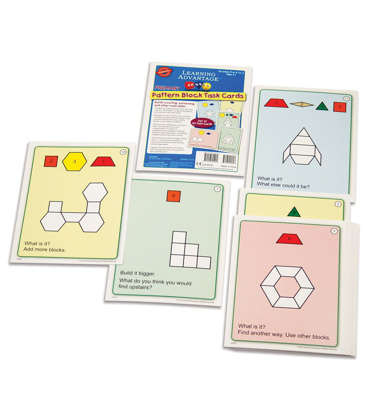 Learning Advantage Primary Pattern Blocks Task Cards, Set A