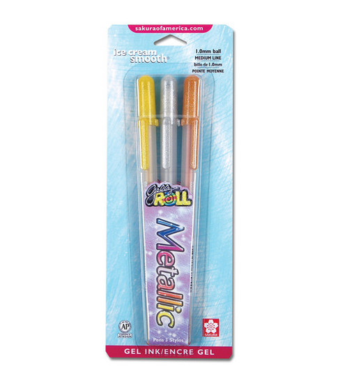 Sakura Gelly Roll Medium Point Pens-3PK/Metallic