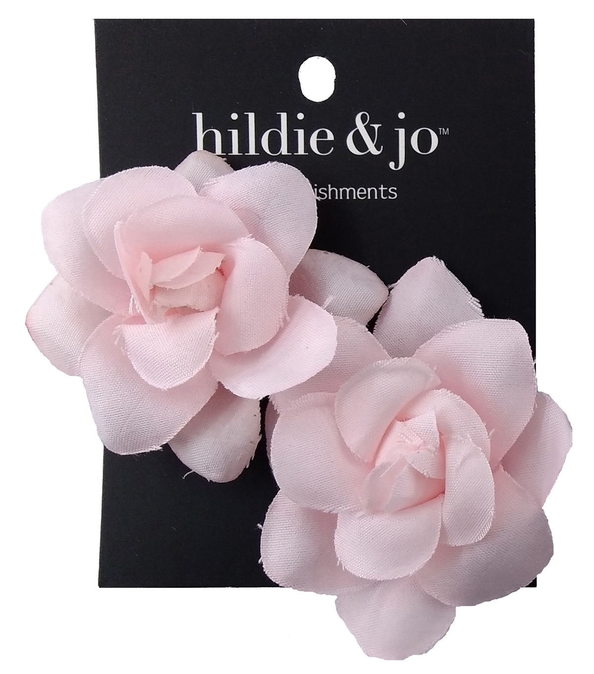 hildie & jo 2 pk Medium Rose Embellishments-Pink