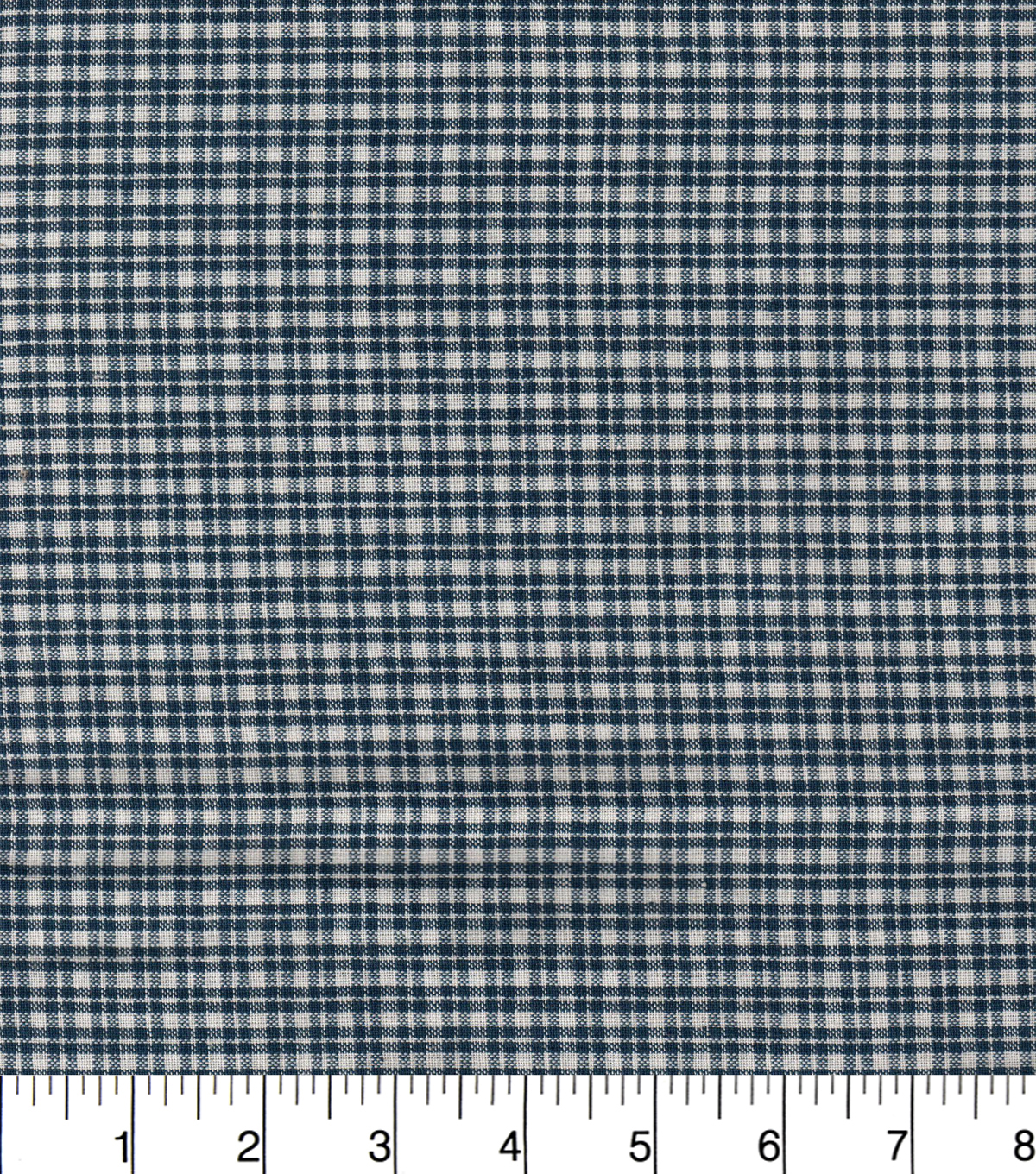 Homespun Cotton Fabric  43\u0022-Blue Small Plaid