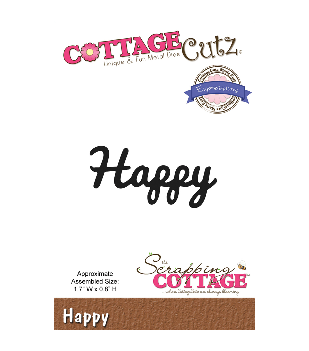 CottageCutz Expressions Happy Die