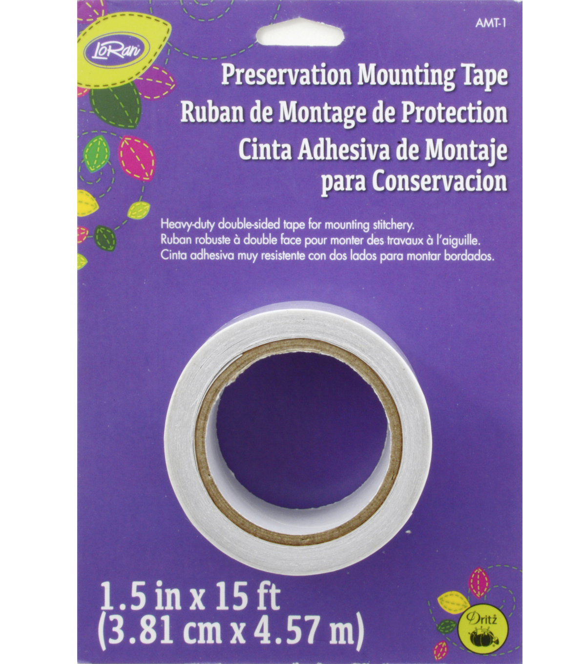 LoRan Archival Mounting Tape 1.5\u0022X15\u0027-