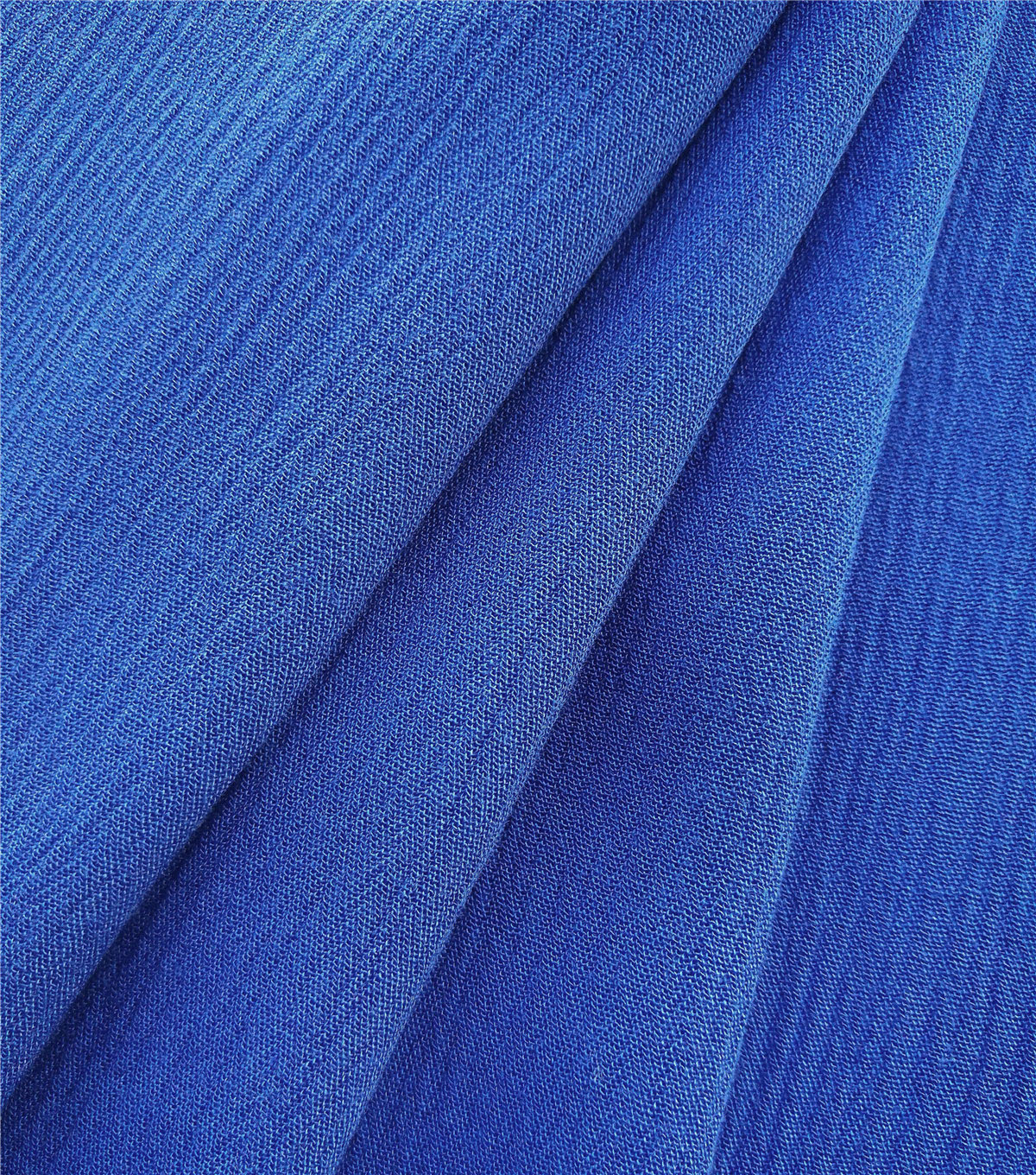 Silky Solids Crinkle Rayon Fabric-Dazzling Blue