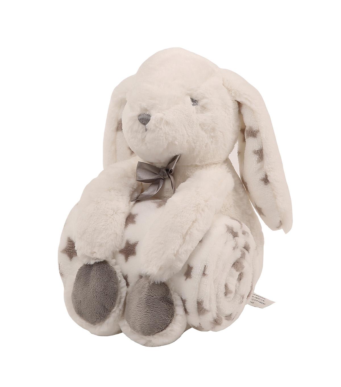 21942b3f9f7803 Plush Bunny with Fleece Blanket