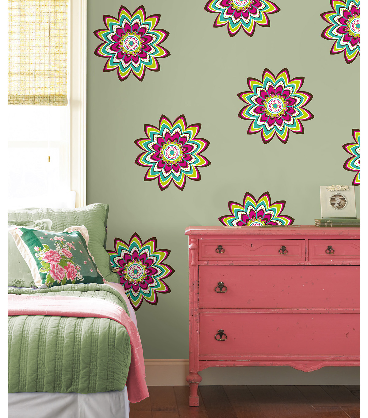 Wall Pops Zsa Zsa Jeweled Dot Decals, 8 Piece Set
