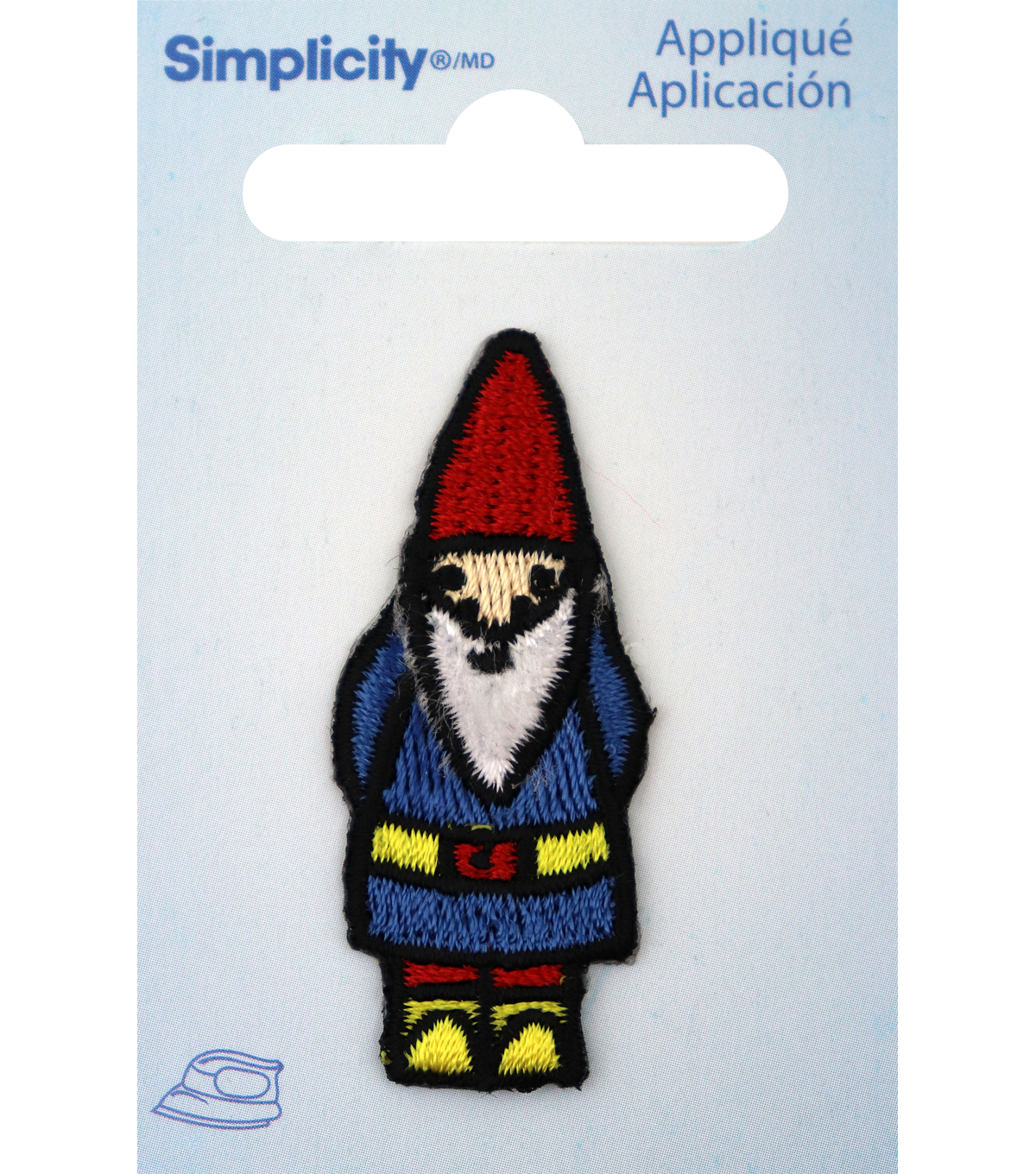 Simplicity Embroidered Gnome Iron-on Applique