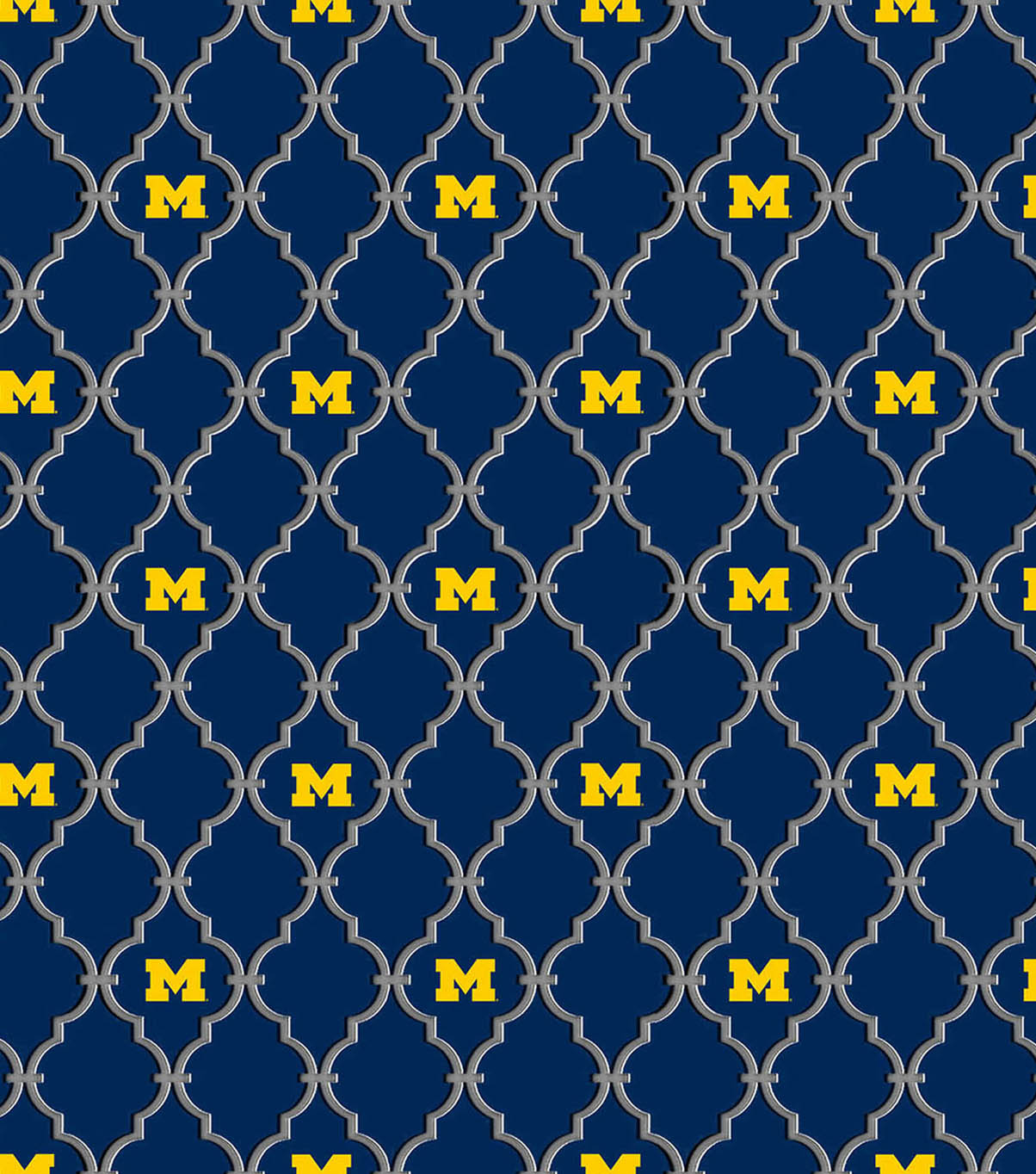 University of Michigan Wolverines Cotton Fabric -Logo