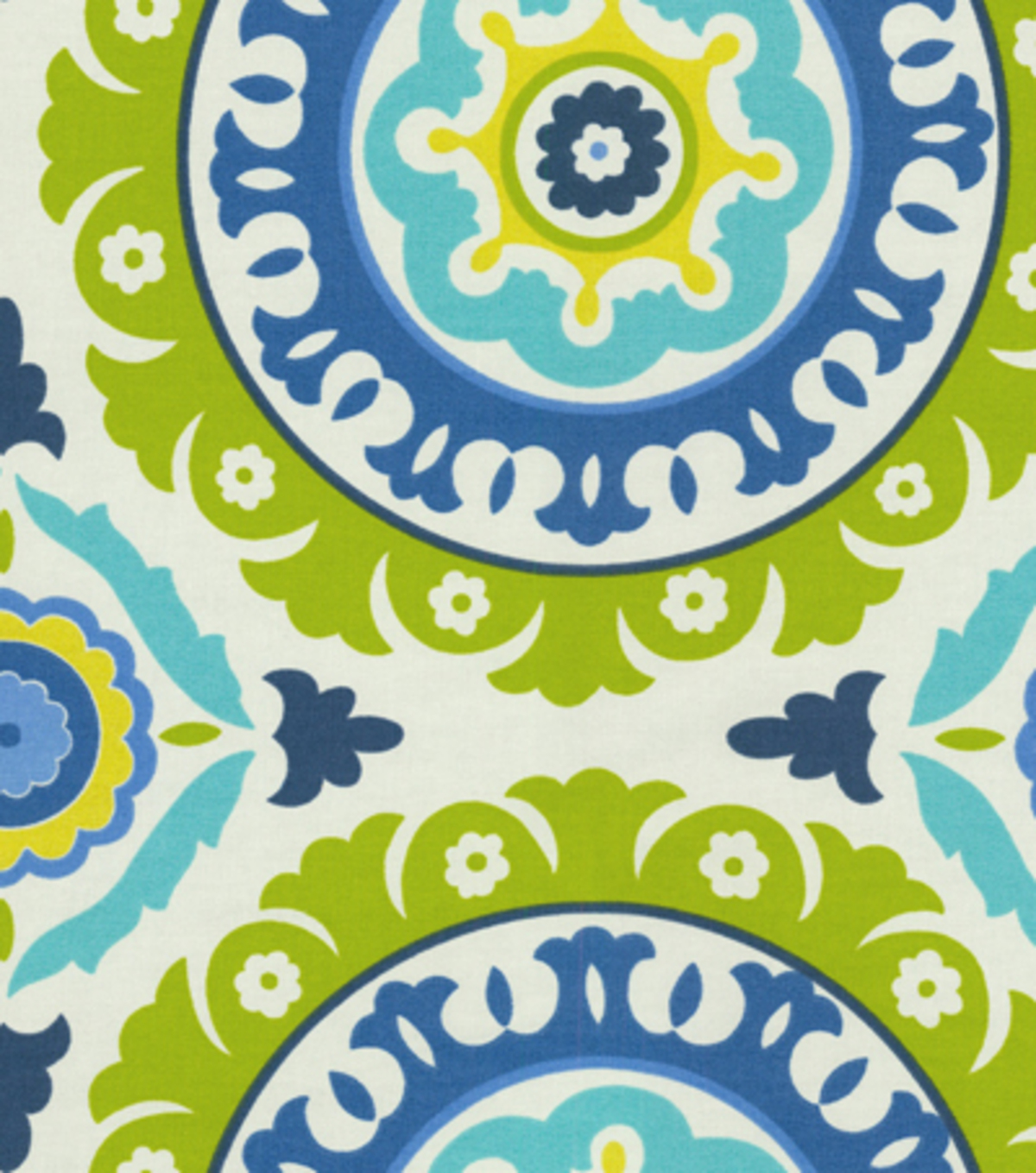 Waverly Multi-Purpose Decor Fabric 54\u0022-Solar Flair/Lime/Indigo
