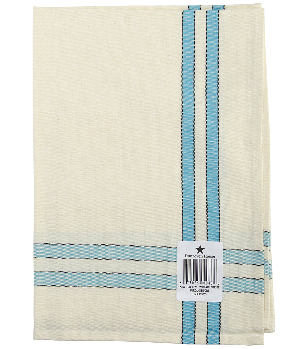 Dunroven House Towel With Sage & Stripes 20\u0022 x 28\u0022