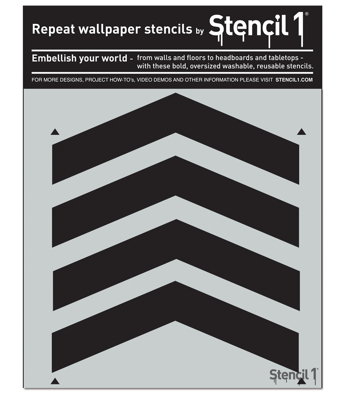 Stencil1 11\u0027\u0027x11\u0027\u0027 Repeat Wallpaper Stencil-Chevron Full