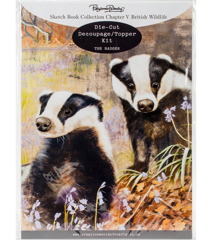 Pollyanna Pickering Sketch Book Ch 5 British Wildlife Kit-The Badger