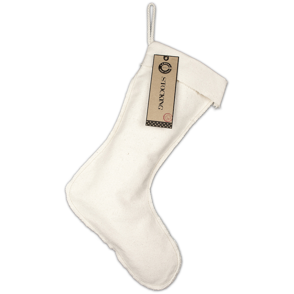 Canvas Corp Canvas Stocking Natural Large