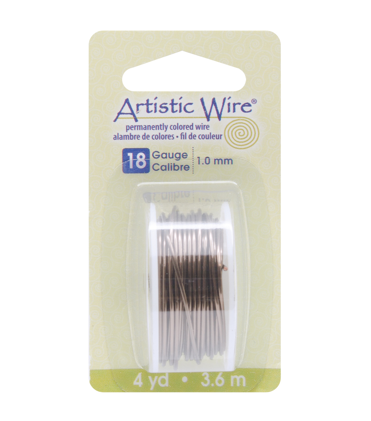 Artistic Wire Dispenser 4 Yards/Pkg-Gunmetal 18 Gauge